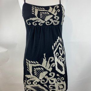 INC Embroidered Black Slip Dress